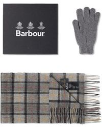 Barbour - Scarf & Glove Gift Box - Lyst