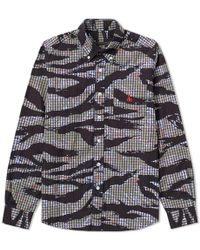 Sophnet - Tiger Camouflage Print Button Down Shirt - Lyst