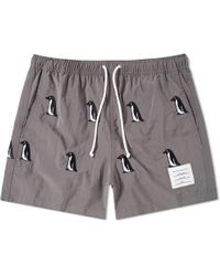Thom Browne - Penguin Embroidery Swim Short - Lyst