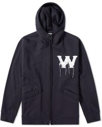 Wooyoungmi - Zip Through W Logo Hoody - Lyst