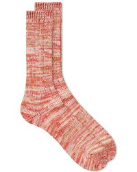Anonymous Ism - 5 Colour Mix Crew Sock Red - Lyst