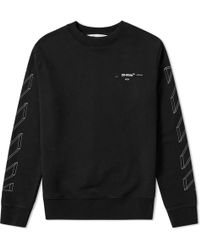 Off-White c/o Virgil Abloh - Diagonal 3d Lines Crew Sweat - Lyst
