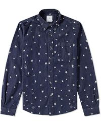 Uniform Experiment - Indigo Star Shirt - Lyst
