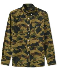 A Bathing Ape - Button Down 1st Camo Shirt - Lyst