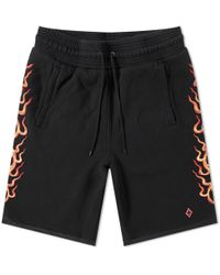 Marcelo Burlon - Flame Sweat Short - Lyst