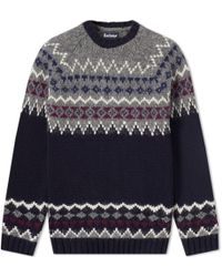 Barbour - Wetheral Fair Isle Crew Knit - Lyst
