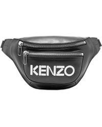 KENZO - Leather Logo Waist Bag - Lyst