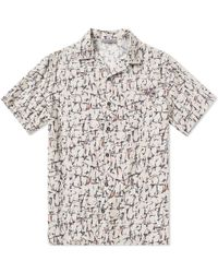 Lanvin - Cracked Paint Bowling Shirt - Lyst
