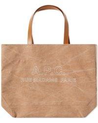 A.P.C. - Igor Stitch Tote Logo Bag - Lyst