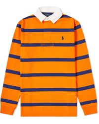 bc66070a Polo Ralph Lauren Iconic Striped Rugby Polo Shirt in Green for Men ...