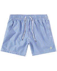 Polo Ralph Lauren - Gingham Traveller Swim Short - Lyst