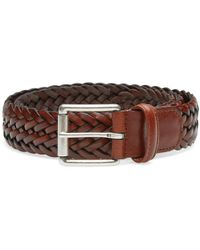 Croc-effect Leather Belt - Green Anderson's e0yPP0639