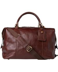 Barbour - Leather Medium Travel Explorer - Lyst