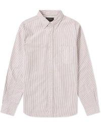 Beams Plus - Button Down Candy Stripe Shirt - Lyst