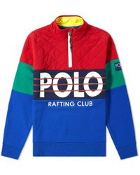 2c94f50d5 Polo Ralph Lauren Quilted Hooded Sweatshirt in Black for Men - Lyst