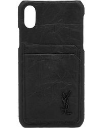 In Black Lyst Logo Saint Bifold Iphone X Laurent Men For Case awF6q0