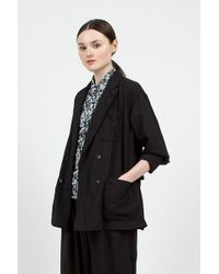 Engineered Garments - Black Tropical Wool Cordura Dl Jacket - Lyst