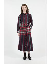 Engineered Garments - Leggiuno Plaid And Stripe Bd Long Dress - Lyst