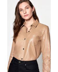 Equipment Fanette Leather Shirt