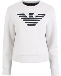 Emporio Armani - Eagle Logo Sweatshirt - Lyst