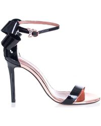 Ted Baker - Sandalo Patent Bow Detail Heels - Lyst