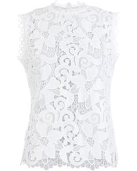 Ted Baker | Sorelle Lace Scalloped Top | Lyst