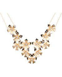 Karen Millen - Geo Flower Necklace - Lyst