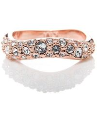 Karen Millen - Pave Crystal Ring - Lyst