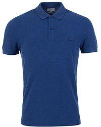 Lacoste | Slub Polo Shirt In Blue | Lyst