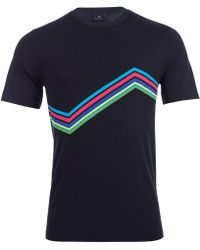 Paul Smith - Cycle Stripe Chevron T-shirt - Lyst
