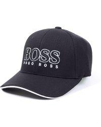 c76471ad140 BOSS Poly Print Cap in Black for Men - Lyst