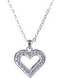 Ted Baker - Emerita Enchanted Heart Pendant In Silver - Lyst