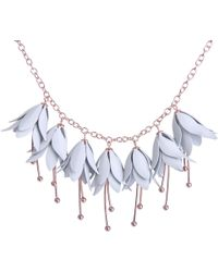 Ted Baker - Fawna Fuchsia Drop Necklace In Grey - Lyst