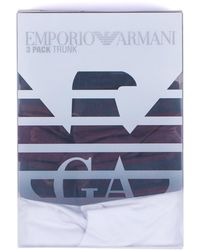 Emporio Armani - 3 Pack Trunks - Lyst