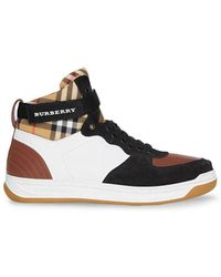 Burberry - High-top Trainers - Lyst
