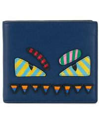 Fendi - Monster Eyes Wallet - Lyst