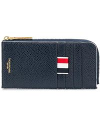 Thom Browne - 4-bar Emboss Half Zip-around Wallet - Lyst