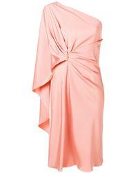 Alberta Ferretti - One-shoulder Draped Dress - Lyst