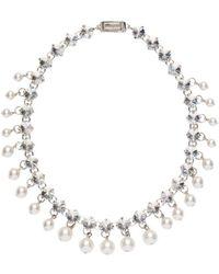 Miu Miu - Crystal And Pearl Necklace - Lyst