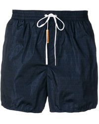 DSquared² - All Over Logo Swim Shorts - Lyst