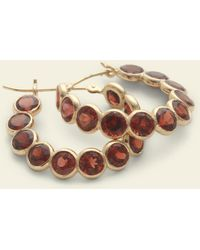 Erica Weiner - Garnet Hoop Earrings - Lyst