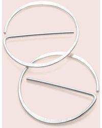 "Erica Weiner - Universal ""no"" Earrings (silver) - Lyst"