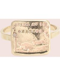 """Erica Weiner - Reversible French Wax Seal Ring: """"slow And Steady"""" - Lyst"""