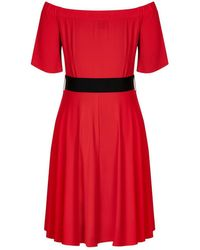 City Chic - Red Lady Valerie Dress - Lyst