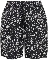 Evans - Black Animal Print Shorts - Lyst