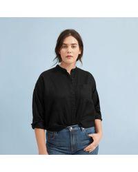 Everlane - The Linen Oversized Collarless Shirt - Lyst