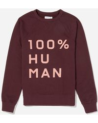Everlane - The Human Woman Unisex French Terry Sweatshirt In Large Print - Lyst