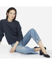 Everlane - The Slim Classic French Terry Crew - Lyst