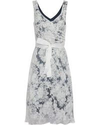 Almost Famous - Floral Flared Skirt Occasion Dress - Lyst