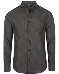 Armani Jeans - Dotted Pattern Weave Shirt - Lyst